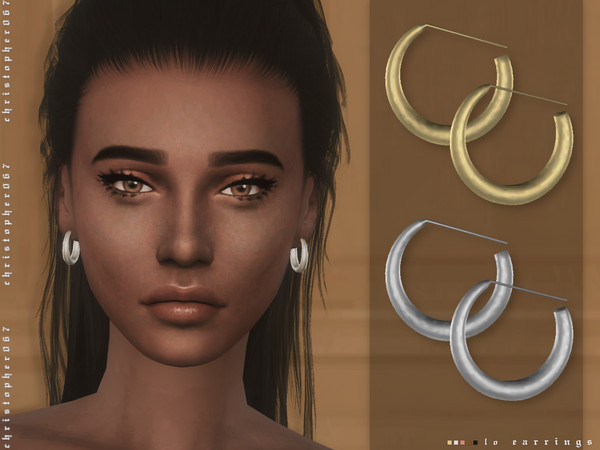 LO Earrings by Christopher067 at TSR image 3410 Sims 4 Updates
