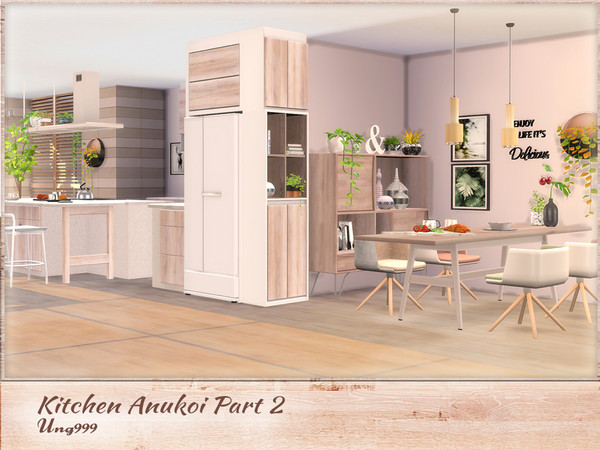 Kitchen Anukoi Part 2 by ung999 at TSR image 3419 Sims 4 Updates