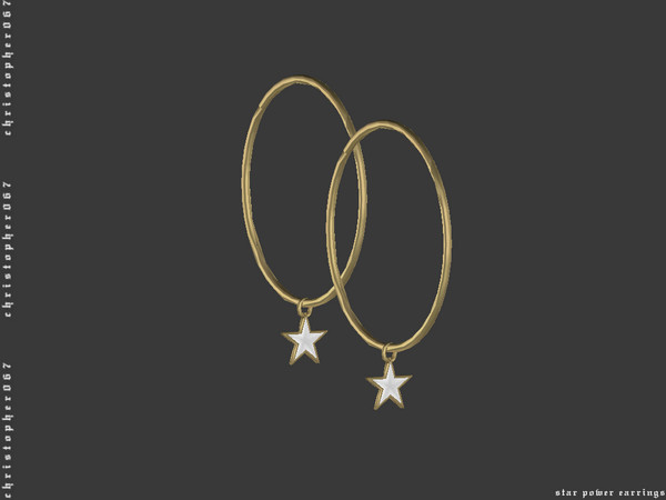 Star Power Earrings by Christopher067 at TSR image 345 Sims 4 Updates