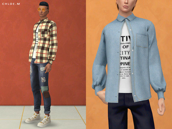 Sims 4 Blouse Male 02 by ChloeMMM at TSR