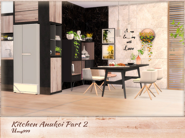 Kitchen Anukoi Part 2 by ung999 at TSR image 3520 Sims 4 Updates