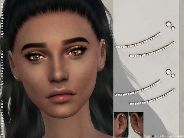 Pristine Earrings by Christopher067 at TSR image 359 Sims 4 Updates