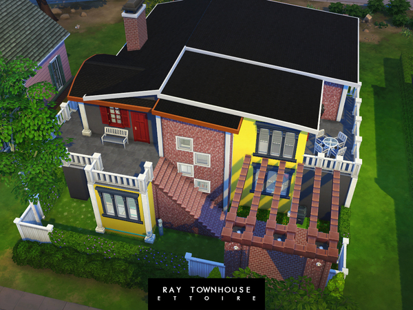 Sims 4 Ray Townhouse by Ettoire at TSR