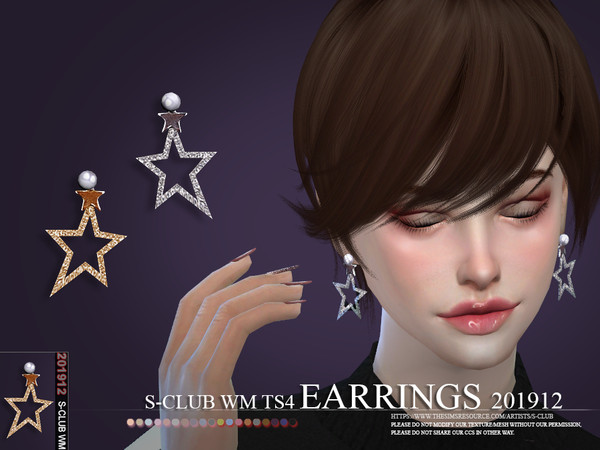 EARRINGS 201912 by S Club WM at TSR image 3811 Sims 4 Updates