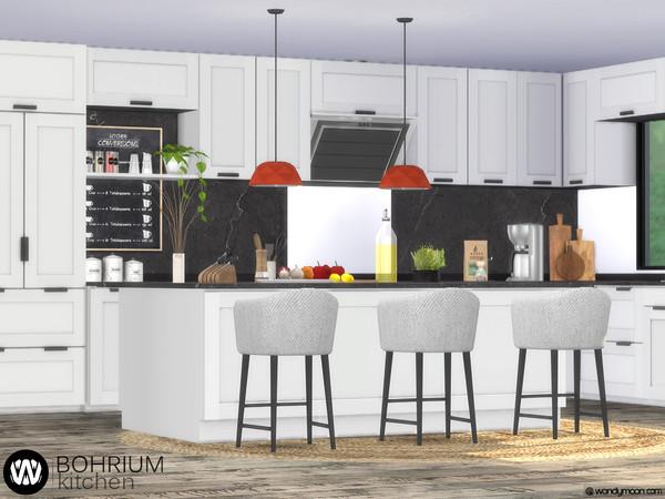Bohrium Kitchen I by wondymoon at TSR image 3821 Sims 4 Updates