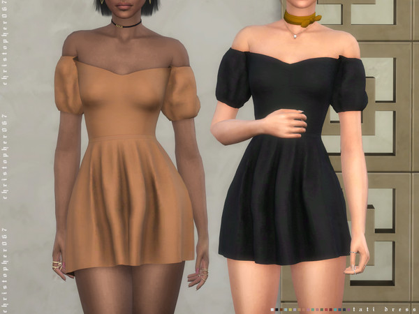 Tati Dress by Christopher067 at TSR image 39 Sims 4 Updates