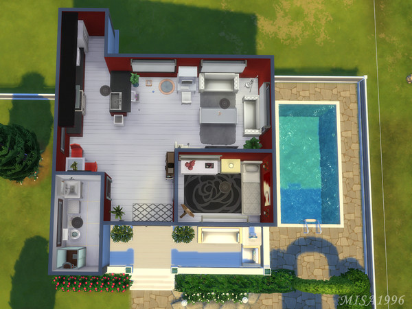 Sims 4 Small modern house by Misa1996 at TSR