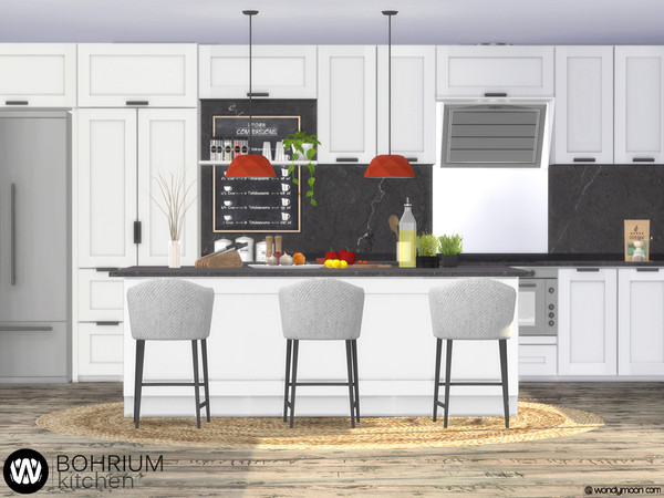 Bohrium Kitchen I by wondymoon at TSR image 3921 Sims 4 Updates