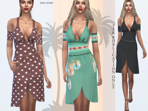 Sims 4 Safari Dress by Sims House at TSR