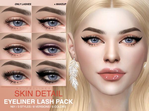 Skin Detail Lash Pack N01 by Pralinesims at TSR image 408 Sims 4 Updates