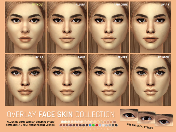 Overlay Face Skin Collection by Pralinesims at TSR image 4115 Sims 4 Updates
