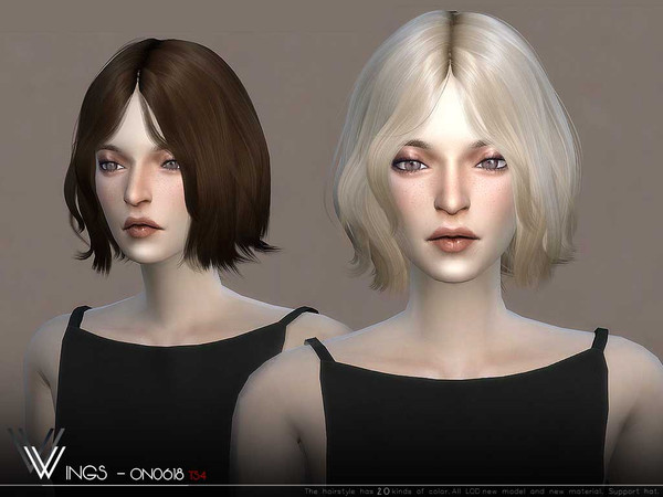 Sims 4 WINGS ON0618 hair by wingssims at TSR