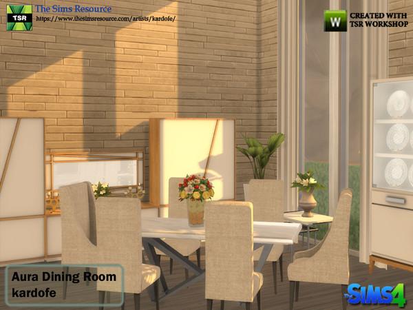 Aura Dining Room by kardofe at TSR image 4213 Sims 4 Updates