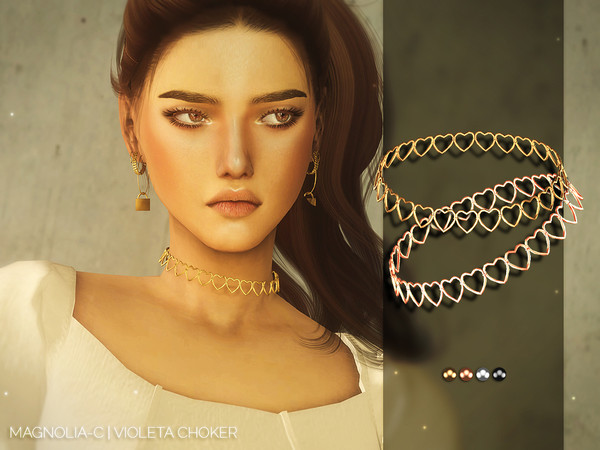 Sims 4 Violeta Choker by Magnolia C at TSR