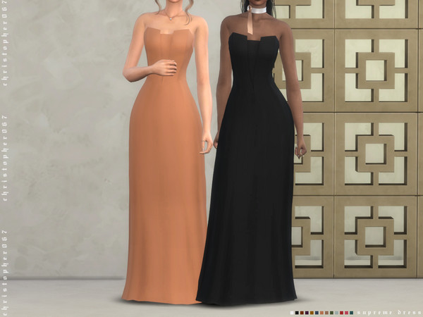 Sims 4 Supreme Dress by Christopher067 at TSR