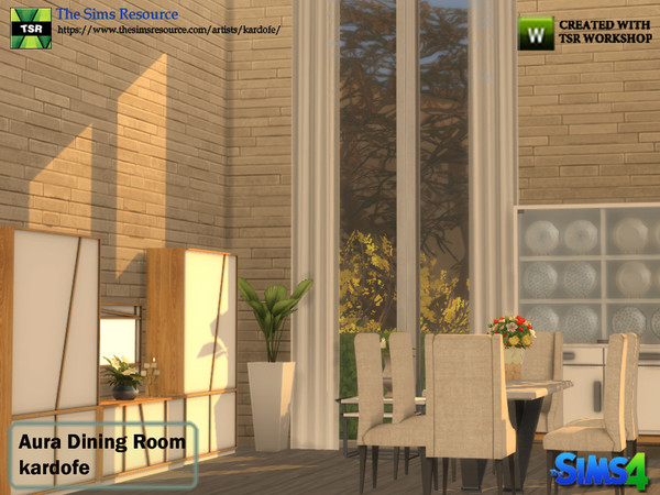 Aura Dining Room by kardofe at TSR image 4312 Sims 4 Updates