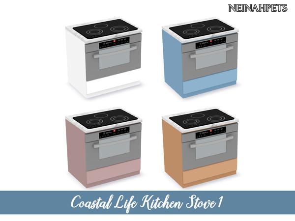 Coastal Life Kitchen Pt I by neinahpets at TSR image 4321 Sims 4 Updates