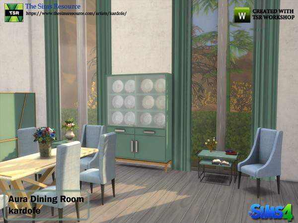 Aura Dining Room by kardofe at TSR image 4411 Sims 4 Updates