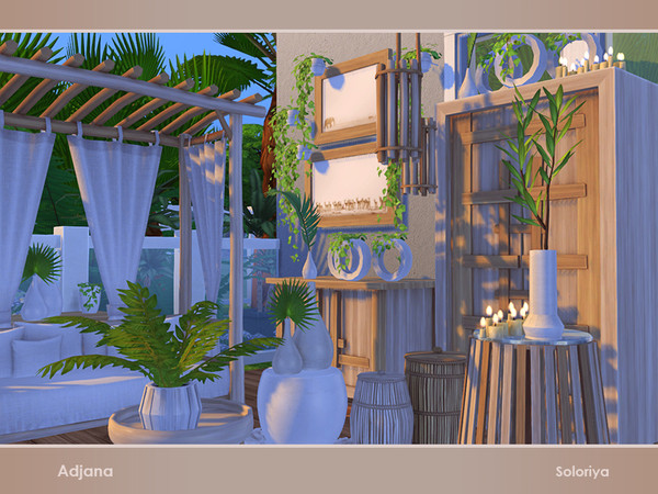 Sims 4 Adjana living room set by soloriya at TSR