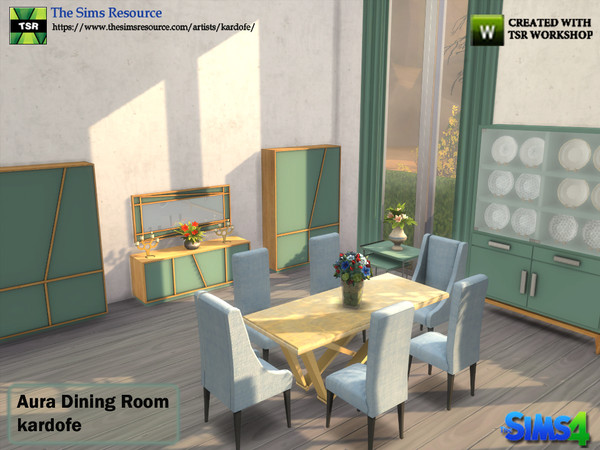 Aura Dining Room by kardofe at TSR image 4510 Sims 4 Updates