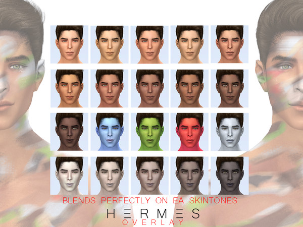 Sims 4 Hermes skin overlay version by Urielbeaupre at TSR