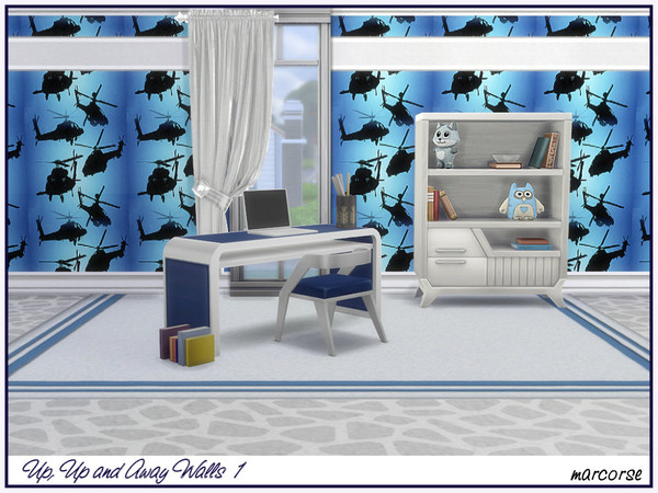Sims 4 Up, Up and Away Walls by marcorse at TSR