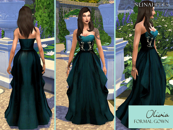 Oliva Formal Dress by neinahpets at TSR image 472 Sims 4 Updates