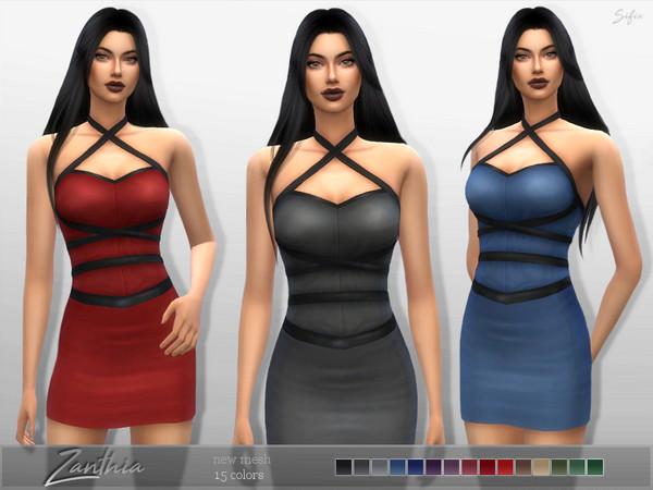Sims 4 Zanthia Dress by Sifix at TSR