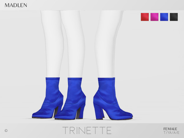 Sims 4 Madlen Trinette Boots by MJ95 at TSR