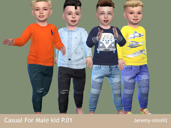 Sims 4 Casual For Male Kids P01 by jeremy sims92 at TSR