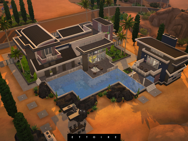 Sims 4 Mirage modern villa by Ettoire at TSR