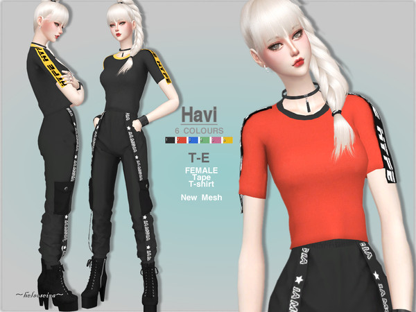 HAVI T Shirt by Helsoseira at TSR image 4915 Sims 4 Updates