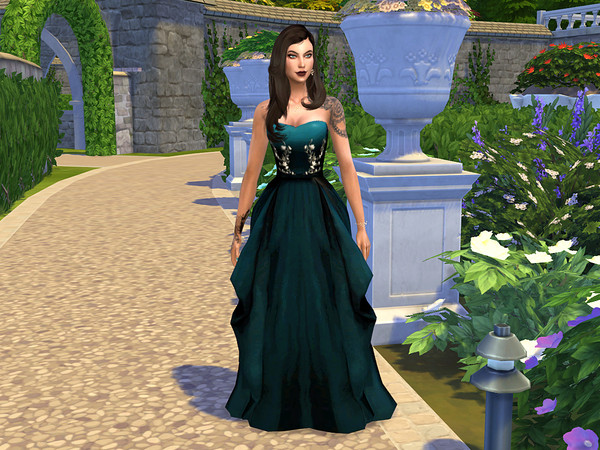 Oliva Formal Dress by neinahpets at TSR image 492 Sims 4 Updates