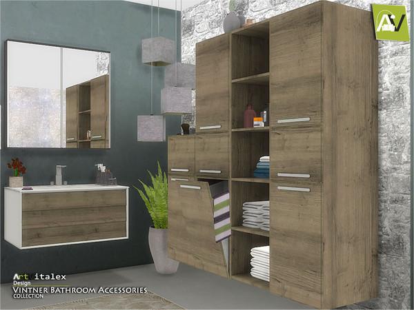 Sims 4 Vintner Bathroom Accessories by ArtVitalex at TSR