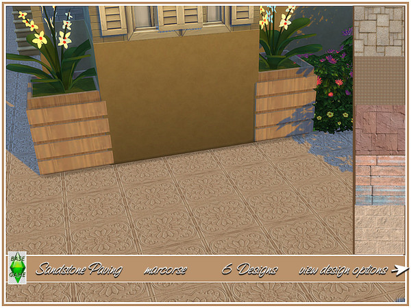 Sandstone Paving by marcorse at TSR image 510 Sims 4 Updates