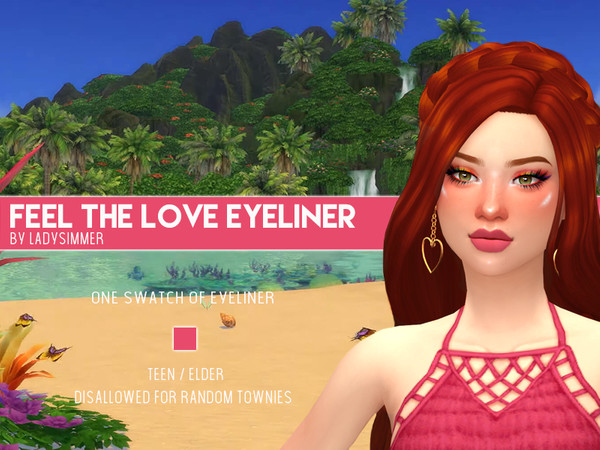 Sims 4 Feel The Love Eyeliner by LadySimmer94 at TSR