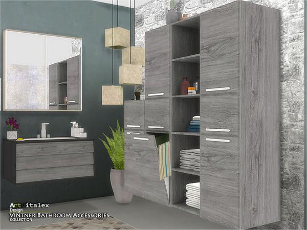 Vintner Bathroom Accessories by ArtVitalex at TSR image 511 Sims 4 Updates