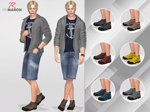 Sims 4 Boots by remaron at TSR