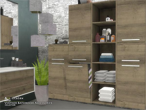 Vintner Bathroom Accessories by ArtVitalex at TSR image 531 Sims 4 Updates