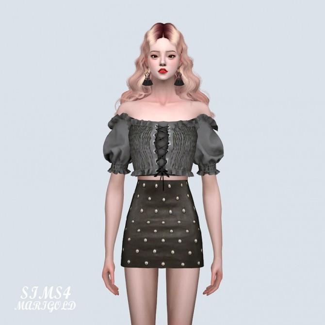 Sims 4 Off Shoulder Corset Crop Top (P) at Marigold