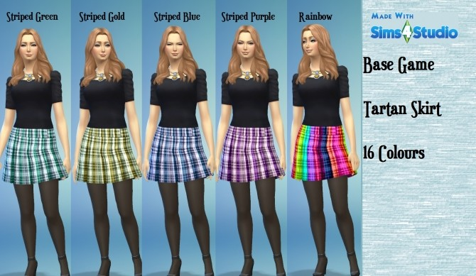 Sims 4 Pleated Skirt 16 Recolours by wendy35pearly at Mod The Sims