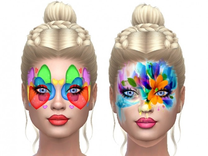 Sims 4 Face paint for fun at Trudie55