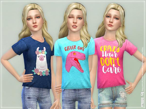 Sims 4 T Shirt Collection GP14 by lillka at TSR