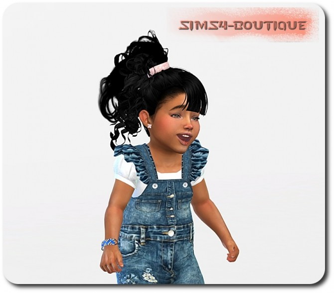 Sims 4 Top, Ruffle Jumpsuit and shoes at Sims4 Boutique