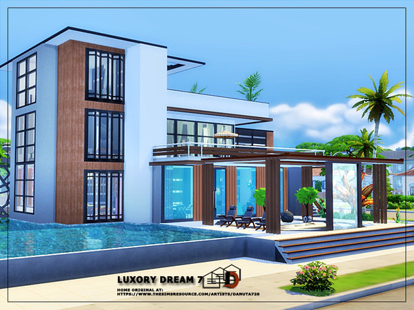 Luxury dream 7 house by Danuta720 at TSR image 56 Sims 4 Updates