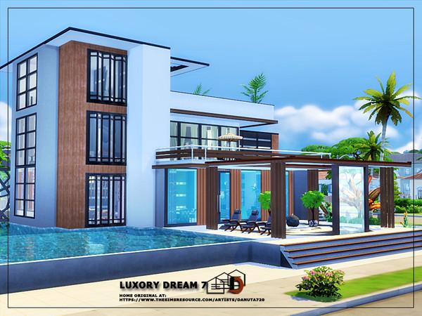 Sims 4 Luxury dream 7 house by Danuta720 at TSR