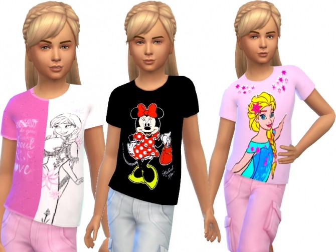 Sims 4 T shirts for kids at Louisa Creations4Sims