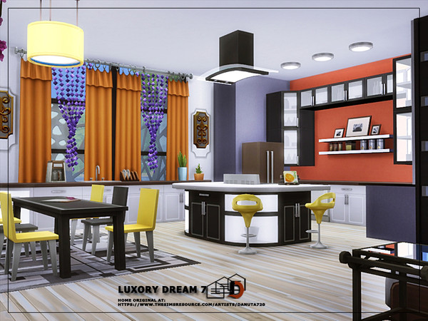 Luxury dream 7 house by Danuta720 at TSR image 57 Sims 4 Updates