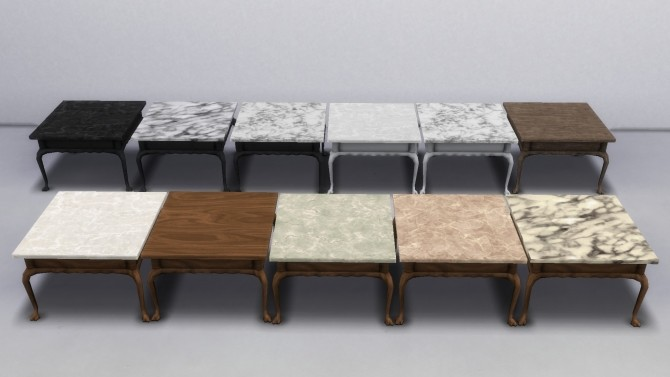Sims 4 Two Colonial Coffee Tables by TheJim07 at Mod The Sims