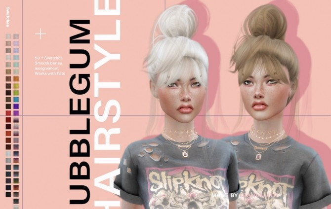 Bubblegum Hairstyle by Leah Lillith at TSR image 5919 670x424 Sims 4 Updates